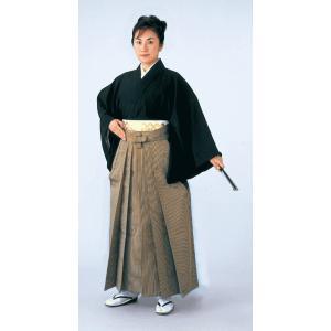 シルック縞袴(馬乗り型・細縞・茶) 式典 成人式のはかま 日舞 詩吟 能楽の舞台 舞踊袴 高品位日本製 踊り袴|kameya