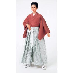 銀襴袴(馬乗り型・青海波) 日舞 詩吟 能楽の舞台 舞踊袴 式典 成人式のはかま 高品位日本製 踊り袴|kameya