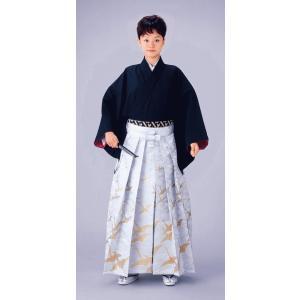 金襴絵羽袴(馬乗り型・飛鶴) 日舞 詩吟 能楽の舞台 舞踊袴 式典 成人式のはかま 高品位日本製 踊り袴|kameya