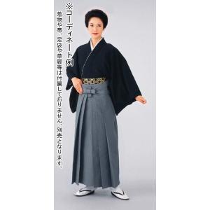 シルクウール袴(グレー) 踊り 舞台 ステージ 式典 成人式用はかま 日舞・詩吟・能楽の舞台衣装用の袴|kameya