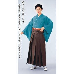 シルクウール袴(茶) 踊り 舞台 ステージ 式典 成人式用はかま 日舞・詩吟・能楽の舞台衣装用の袴|kameya