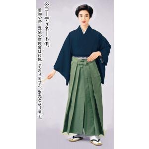 袴 メンズ レディース 馬乗り袴 レーヨン ポリ 成人式 茶道 踊り 袴 日本製 青磁色|kameya