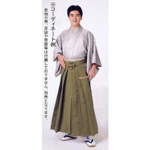 オーダーメイド無地袴(黄土色) 踊り 舞台 ステージ 式典 成人式用はかま 日舞・詩吟・能楽の舞台衣装用の袴|kameya