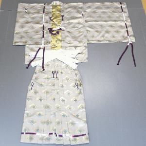 直垂「ひたたれ」(シャンパンゴールド) 上衣と袴のセット 時代劇・相撲行司・ステージ用の直垂 雅楽の楽師/祭礼の供奉人衣装|kameya