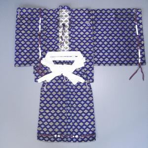 直垂「ひたたれ」(紫紺) 上衣と袴のセット 時代劇・相撲行司・ステージ用の直垂 雅楽の楽師/祭礼の供奉人衣装|kameya