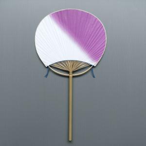 ボカシうちわ(全長41cm×幅22cm・竹製・若紫) 祭り/盆踊り/イベント用団扇 祭小物 まつり用品|kameya