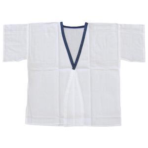 和装肌着 和装下着 男性 メンズ 肌着 着物 下着 さらし 晒 木綿 白 紺衿 M L|kameya