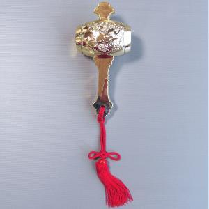 小槌(小豆入り) 打ち出の小槌 舞踊小道具 舞台装飾 日舞・踊り小道具 ステージ小物 [nsd-3161]|kameya