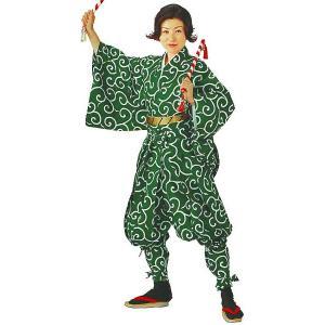 たっつけ袴 2点セット 袴下着物 袴 祭り 踊り 手古舞 獅子舞 たっつけ袴 納期45日 唐草 木綿|kameya