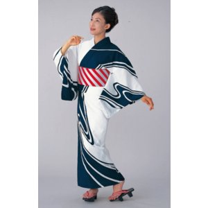 浴衣 ゆかた 反物 レディース メンズ 盆踊り 祭り ユカタ 踊り 絵羽浴衣 観世水|kameya