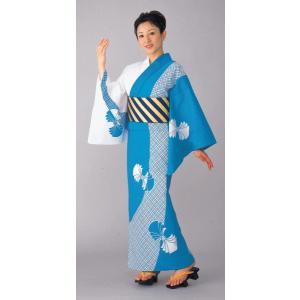 浴衣 ゆかた 反物 レディース メンズ 盆踊り 祭り ユカタ 踊り 絵羽浴衣 水色 格子 束ね熨斗|kameya