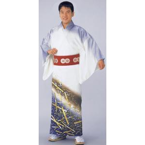 踊り訪問着のキングサイズ反物(白地/箔紙) 舞踊衣裳 絵羽着物 踊り・舞台・パーティー用訪問着 洗える着物反物 [kz]|kameya