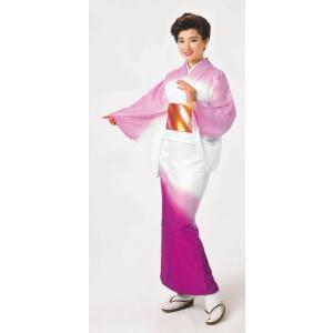 踊り訪問着の反物(薄紅・牡丹色/ぼかし) 絵羽着物 踊り・舞台・パーティー用訪問着 洗える着物反物|kameya