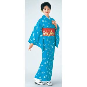 小紋の反物(絣/ライトブルー) 踊り・舞台・パーティー用着物反物 洗える着物 kameya