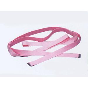仮紐(幅2cm×長さ129cm・四重・ピンク) 変わり帯結びのためのゴム製仮紐 着付け用品 着付グッツ 帯結びを美しくする和装便利小物|kameya