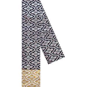 三寸帯(幅11.5cm×長さ350cm・角帯/黒地・花菱) リバーシブル男物三寸帯 着物 浴衣 踊り帯 日本舞踊 歌舞伎 舞台 ステージ用帯 kameya