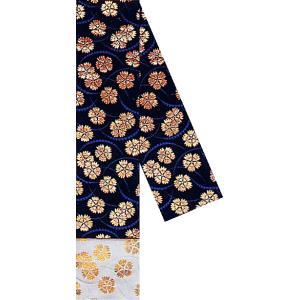 三寸帯(幅11.5cm×長さ350cm・角帯/黒地・撫子) リバーシブル男物三寸帯 着物 浴衣 踊り帯 日本舞踊 歌舞伎 舞台 ステージ用帯 kameya