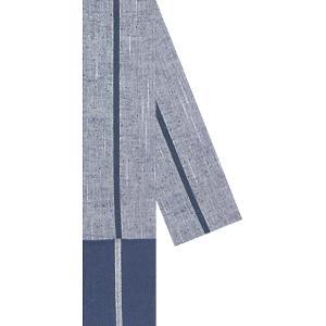 角帯(幅8.5cm×長さ400cm・一本縞/グレー・濃紺) 素朴な風合いの男物先染め角帯 法被/はっぴ/半天/袢天/半纏帯 着物/浴衣/袢纏/はんてん用男帯 kameya