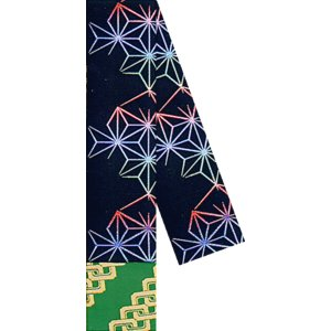 角帯 男物 3寸帯 メンズ角帯 踊り帯 袴下帯 祭り 盆踊り 帯 浴衣 11.5×350cm 黒 麻の葉 kameya