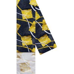 半幅帯 半巾帯 4寸帯 踊り 帯 半幅 浴衣 リバーシブル 黒 金襴 箔紙|kameya