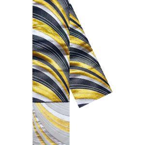 半幅帯(幅15cm×長さ350cm・織帯/黒地金襴銀襴旭光・旭光) ふっくらと織り上げたリバーシブル半幅帯 踊り帯 日本舞踊 歌舞伎 舞台 ステージ用帯 着物帯 kameya