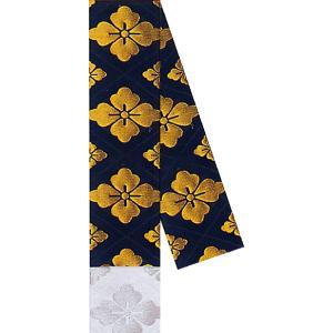 角帯 男物 3寸帯 メンズ角帯 踊り帯 袴下帯 祭り 盆踊り 帯 浴衣 11.5×350cm 黒 花菱 kameya