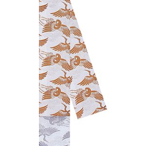 角帯 男物 3寸帯 メンズ角帯 踊り帯 袴下帯 祭り 盆踊り 帯 浴衣 11.5×350cm 白 飛鶴 kameya