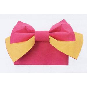 結び帯 むすび帯 作り帯 付け帯 付帯 リボン結び 帯 浴衣 ワンタッチ ピンク クリーム|kameya