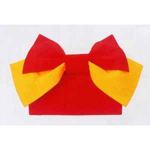 結び帯 むすび帯 作り帯 付け帯 付帯 リボン結び 帯 浴衣 ワンタッチ 赤 黄|kameya