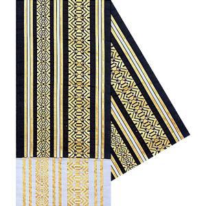 八寸踊り帯 幅30cm×長さ460cm 黒 献上柄 金襴腹合せ帯 袋帯 踊り帯 日本舞踊 歌舞伎 舞台 ステージ用帯 着物 和装 成人式 舞子帯|kameya