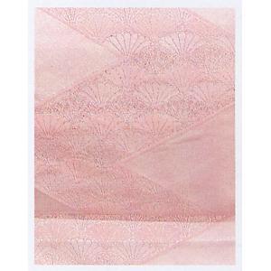 名古屋帯 舞踊帯 踊り 帯 八寸名古屋帯 日本舞踊 30×370cm 薄ピンク 菊青海波|kameya