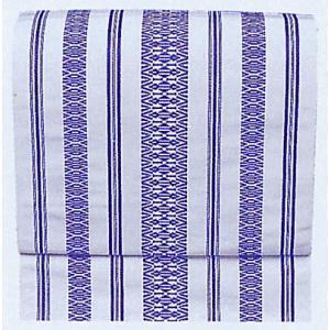 名古屋帯 舞踊帯 踊り 帯 八寸名古屋帯 献上柄 日本舞踊 30×360cm 白 紫|kameya