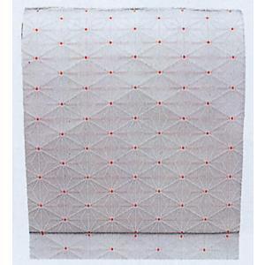 名古屋帯 舞踊帯 踊り 帯 八寸名古屋帯 麻の葉 日本舞踊 30×370cm 朱子織 白|kameya