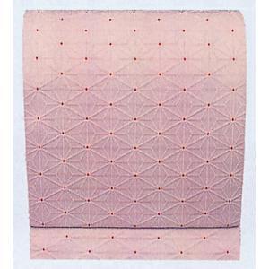 名古屋帯 舞踊帯 踊り 帯 八寸名古屋帯 麻の葉 日本舞踊 30×370cm 朱子織 ピンク kameya