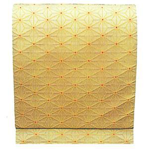 名古屋帯 舞踊帯 踊り 帯 八寸名古屋帯 麻の葉 日本舞踊 30×370cm 朱子織 クリーム kameya