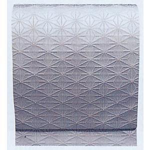 名古屋帯 舞踊帯 踊り 帯 八寸名古屋帯 麻の葉 日本舞踊 30×370cm 朱子織 銀ネズ kameya