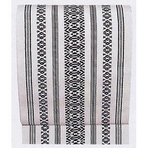 夏帯 紗帯 名古屋帯 舞踊帯 夏用 踊り 帯 着物 日本舞踊 舞台 30×360cm 白 黒柄|kameya