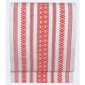 夏帯 紗帯 名古屋帯 舞踊帯 夏用 踊り 帯 着物 日本舞踊 舞台 30×360cm 白 赤柄|kameya