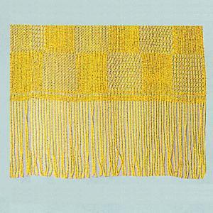 兵児帯 布帯 巻き帯 巻帯 レース兵児帯 祭り 踊り よさこい ショール 41×300cm 黄色|kameya