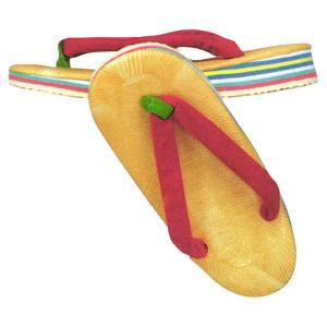 草履 ぞうり 子供 雪駄 赤鼻緒 スポンジ クッション 祭り 着物 浴衣 草履 子ども 和装履物|kameya