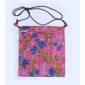 ポシェット 和風 まつり ミニ バッグ 祭りポシェット ピンク 束ね熨斗|kameya