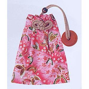巾着 袋 バッグ ポーチ きんちゃく 祭り 巾着袋 ファスナー 揚羽蝶|kameya