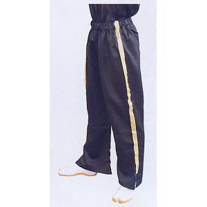 ゴムパンツ(ブラック・金ライン入り) まつり用ズボン 舞台 ステージ スポーツ ウオーキング用ゆったりパンツ 祭りボトムス 祭り用品 祭り衣装|kameya