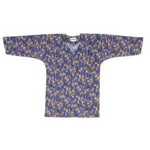 鯉口シャツ 祭り ダボシャツ メンズ レディース 瑠璃色 束ね熨斗 鯉口シャツ 祭り用品|kameya