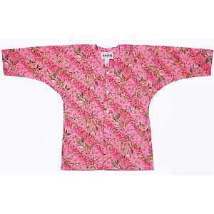 鯉口シャツ 祭り 子供用 祭シャツ ダボ シャツ 鯉口 子ども 揚羽蝶 踊り 祭り用品|kameya