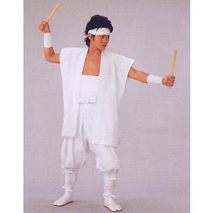 たっつけ袴 太鼓用 はかま メンズ レディース 伊賀袴 太鼓 踊り 祭り たっつけ袴 白|kameya
