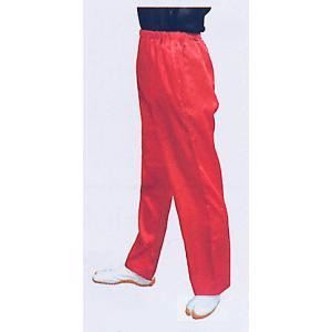 サテンストレートパンツ(赤) まつり用ズボン よさこい衣裳 舞台 ステージ 踊り用ゆったりパンツ 祭りボトムス 祭り用品 祭り衣装|kameya