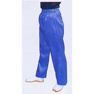 サテンストレートパンツ(ブルー) まつり用ズボン よさこい衣裳 舞台 ステージ 踊り用ゆったりパンツ 祭りボトムス 祭り用品 祭り衣装|kameya