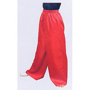 サテンワイドパンツ(赤) まつり用ズボン よさこい衣裳 舞台 ステージ 踊り用ゆったりパンツ 祭りボトムス 祭り用品 祭り衣装|kameya