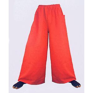 超ワイドパンツ(赤) まつり用ズボン よさこい衣裳 舞台 ステージ 踊り用ゆったりパンツ 祭りボトムス 祭り用品 祭り衣装|kameya